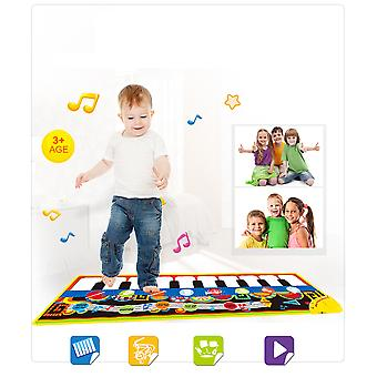 מחצלת פסנתר Homemiyn, מוסיקלי מקלדת Playmat מוסיקה אלקטרונית לשחק שמיכה ריקוד מחצלת צעצועים חינוכיים מוקדמים