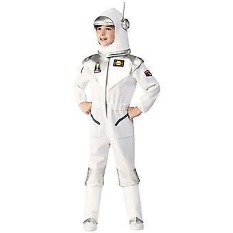 Deluxe Boy's White Space Suit Astronaut Book Uge Halloween Out Space Tema Party Costume