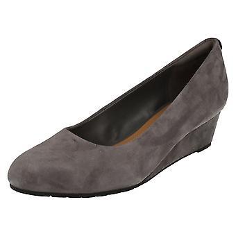 Ladies Clarks Smart Slip On Shoes with Wedge Heel Vendra Bloom