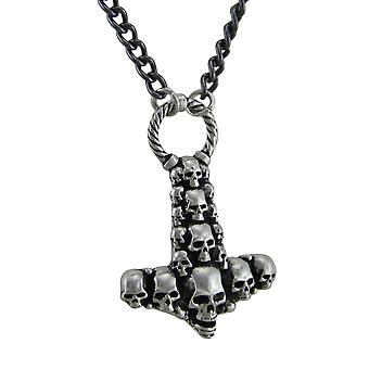 Alchemy Gothic Skullhammer Thor's Hammer Pendant With Necklace