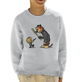 Rise Up Calvin And Hobbes Walking Dead Negan Rick Kid's Sweatshirt