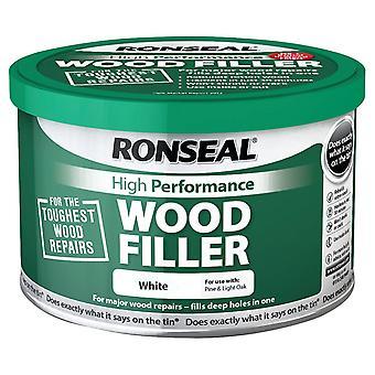 Masilla para madera Ronseal 275g de alto rendimiento - blanco