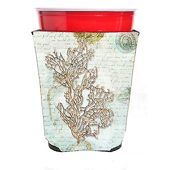 Carolines Treasures  SB3040RSC Coral  Red Solo Cup Beverage Insulator Hugger