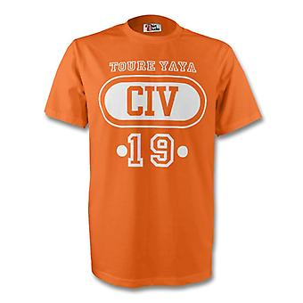Yaya Toure Civ camiseta de Costa de Marfil (naranja) - niños