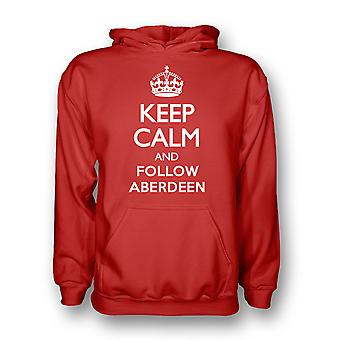 Pidä rauhallinen ja seuraa Aberdeen Hoody (punainen) - Kids