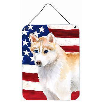 Siberische Husky patriottische muur of deur hangen Prints