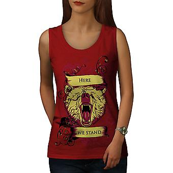 Here We Stand Wild Women RedTank Top | Wellcoda