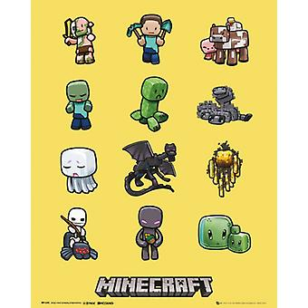 Minecraft Characters Poster Print (24 X 36)
