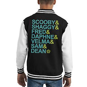 Scooby Natural Cast List Scooby Doo Supernatural Kid's Varsity Jacket