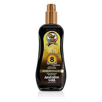 Australian Gold Spray Gel Sunscreen Broad Spectrum Spf 8 With Instant Bronzer - 237ml/8oz