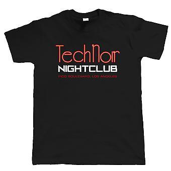 Tech Noir natklub Herre film inspireret T shirt, Sci-Fi Terminator gave far ham