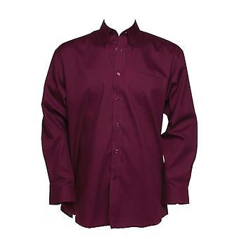 Kustom Kit Mens corporativa Oxford camisa de mangas compridas