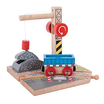 Bigjigs Rail Wooden Gravel Crane Magnet Magnetic Lift Train Accessories