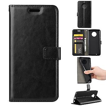Tasche Wallet Premium Schwarz für Motorola Moto G6 Schutz Hülle Case Cover Etui Neu Zubehör
