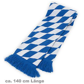 Strikk skjerf Bayern Bayern blå hvit skjerf