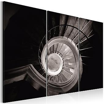 Canvas Print - Down a spiral staircase