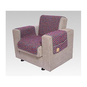 Podłokietniki - i fotel wygaszacz zestaw z 2 kieszenie MALI kolor: srebrny kolorowej wełny