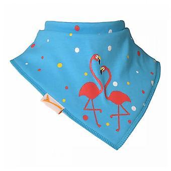 Bavoir bandana flamingo bleu