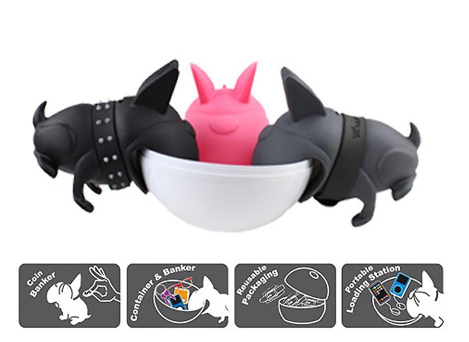 Burbie Money Box and Storage Bowl - Bulldog Whaawhaa by Dhink