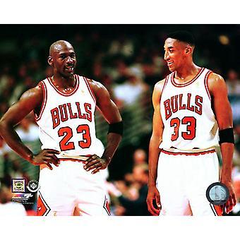 Michael Jordan & Scottie Pippen 1996-97 fotoutskrift