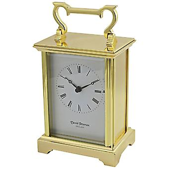 David Peterson Anglais Quartz Carriage Clock - Gold