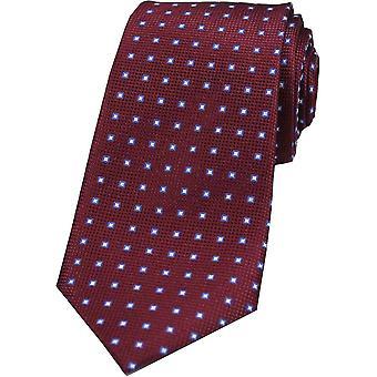 Дэвид ван Хаген аккуратные коробки шелковый галстук шаблон - красный вино