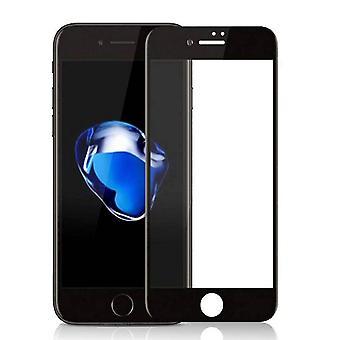 Protector de pantalla 2,5 D vidrio templado de 8/7 iPhone negro completa