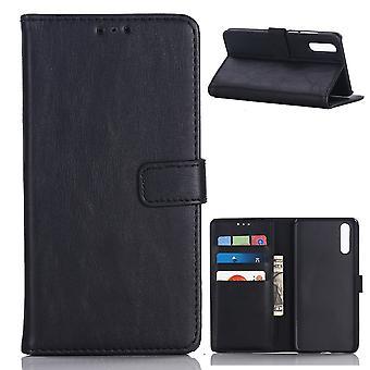 Huawei P20 Retro Brieftasche Fall-Schwarz