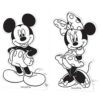 Mickey Mouse and Minnie Mouse Set of 2 Colour and Keep Cardboard Cutout / Standees / Standups / Standees