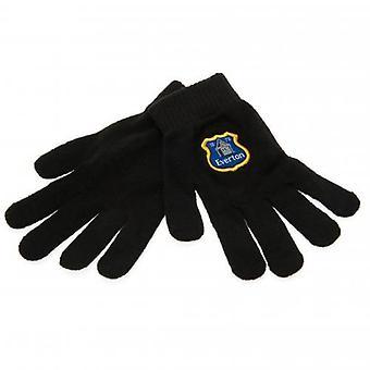 Έβερτον πλεκτά γάντια Junior BLK