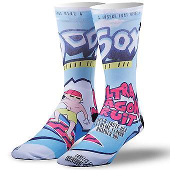 OddSox Mens Crew Knit Socks ~  Ultra Dragon