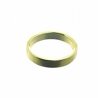 18ct kultaa 4mm tavallinen tasainen vihkisormuksen koko S