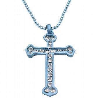 Türkis-Kreuz-Anhänger Diamante hängende Cubic Zirkon Kreuz Schmuck