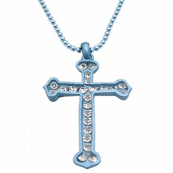 Turkoosi Cross riipus Diamante riipus Cubic Zirkonia Cross koruja