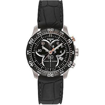 Traser H3 Ladytime zwarte chronograph mens watch T7392. 8AH. G1A. 01 100314