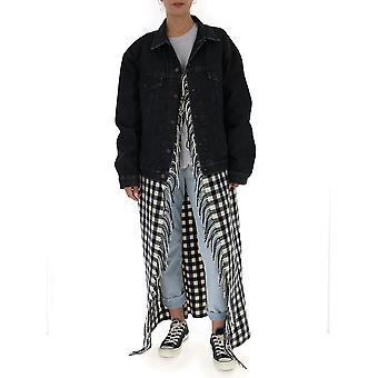 Balenciaga 530744txe061055 Women's Black Cotton Outerwear Jacket