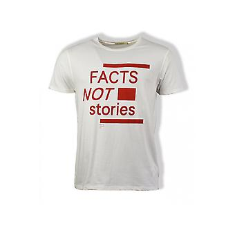 Nudie Jeans Co Anders Facts Not Stories T-Shirt (White)