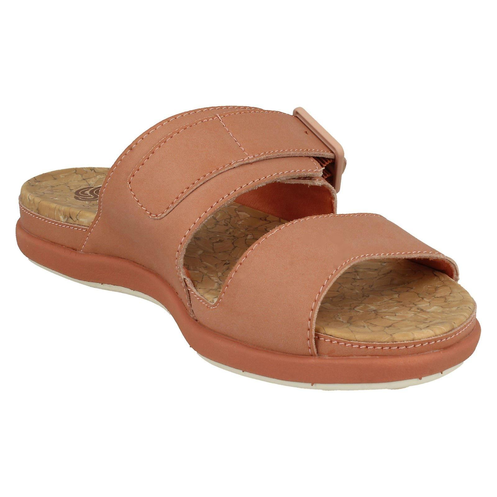 Ladies Clarks Cloudsteppers Mule Sandals Step June Tide