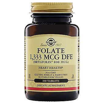 Solgar Folate 800 mcg (as Metafolin) Tablets 100ct