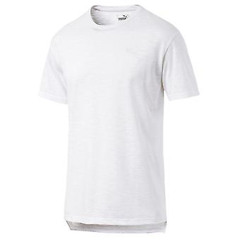 プーマ半袖メンズ フィットネス トレーニング t シャツ t シャツ ホワイト