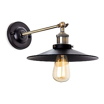 Erstlicht-1 Light Indoor Wall Light Black, Antique Brass-5933BK