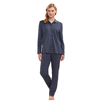 Féraud 3883160-16525 Women's Dark Grey Plaid Cotton Pyjama Set