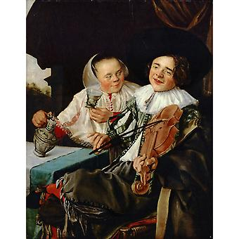 Carousing Couple, Judith Leyster, 50x40cm