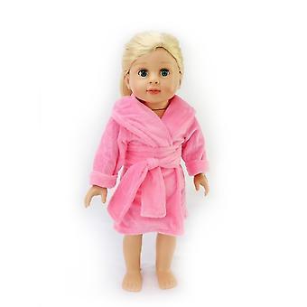 """18 """"docka kläder rosa morgonrock"""
