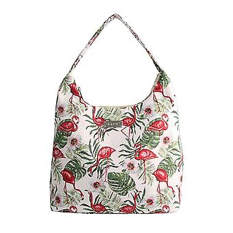 Flamingo shoulder hobo bag by signare tapestry / hobo-flam
