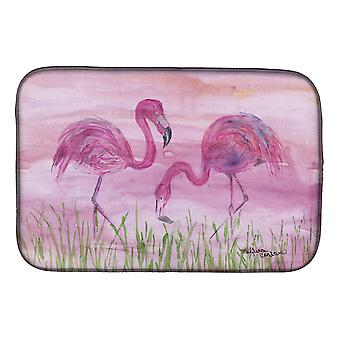 Carolines Treasures  SC2018DDM Flamingos Dish Drying Mat