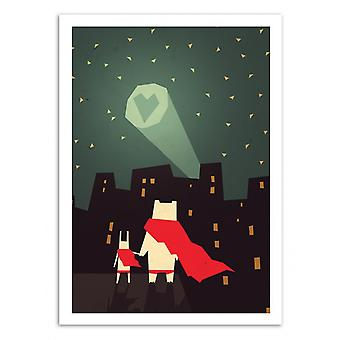 Art-Poster - The city needs Love - Yetiland 50 x 70 cm