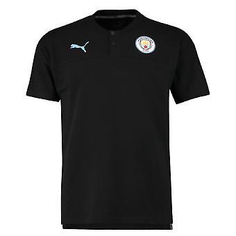 2019-2020 مانشستر سيتي بوما عارضة الأداء بولو قميص (أسود)