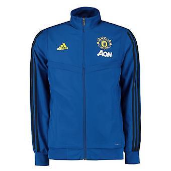 2019-2020 Man Utd Adidas Presentation Jacket (Blue)