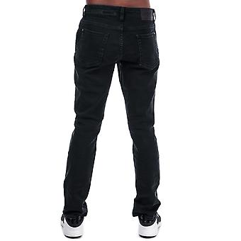 Mens Timberland Sargent Lake jeans lavado em preto-zip Fly-Five Pocket design-